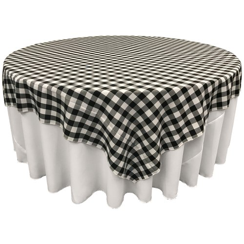 LA Linen Polyester Gingham Checkered Square Tablecloth by LA Linen