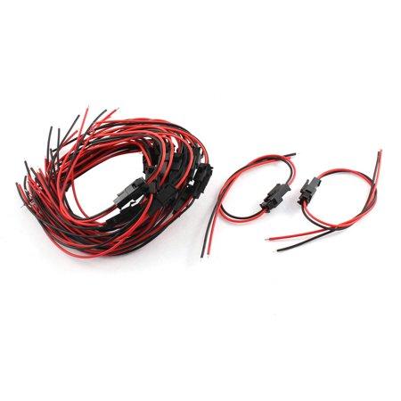 Strings Connector (Unique Bargains 20Sets JST-SM 2Pole Female Male Connector Cable for )