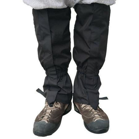 1 Pair Unisex Waterproof Leg Cover Ski Gaiter Hiking Camping Snow Boots Hunting Travel Climbing Windproof (2007 Ski Boots)