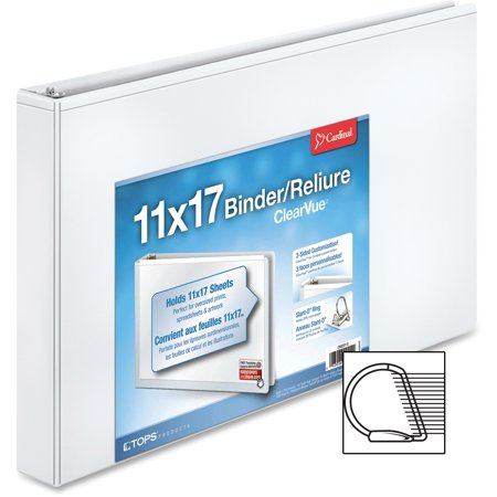 Cardinal 11 x 17 ClearVue Slant-D Ring Binder, 1