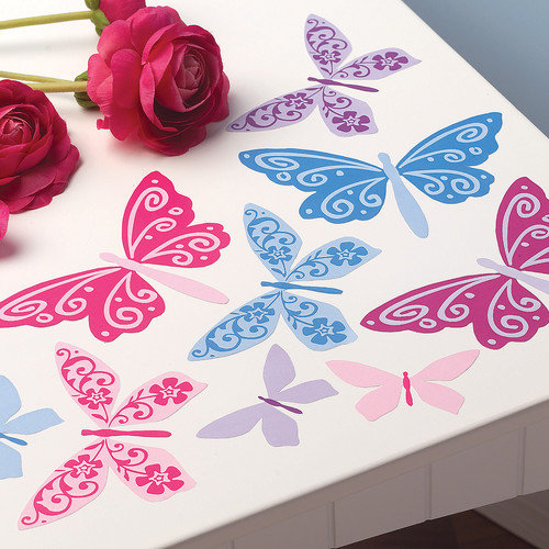 Wallies Flutterbyes Wall Decal (Set of 4)