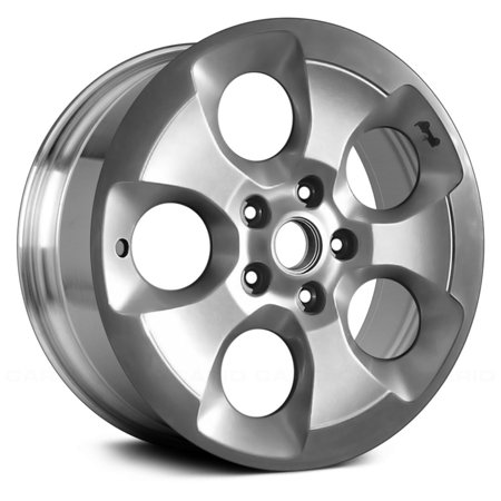 PartSynergy Aluminum Alloy Wheel Rim 18 OEM Take-Off Fits Inch 2016-2017 Jeep Wrangler 5 Spokes (35 Tires And Rims For Jeep Wrangler)