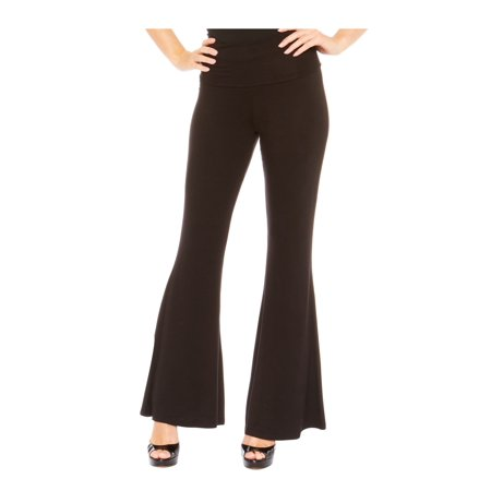 Red Hanger Women's High Waist Palazzo Bell Bottom Pants Regular and Plus Sizes, Black-S - Plus Size Bell Bottoms