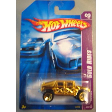 HUMVEE Hot Wheels 2007 Gold Rides Series GOLD Humvee Hummer 1:64 Scale Collectible Die Cast Metal Toy Car Model #3/4 055/180