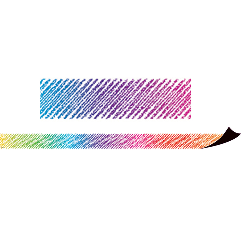 COLORFUL SCRIBBLE MAGNETIC BORDER
