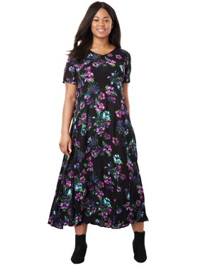 d43f8da009152 Product Image Woman Within Plus Size Petite Crinkle Dress