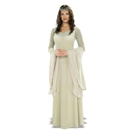Queen Arwen Deluxe Adult Halloween Costume - One Size (Queen Cersei Halloween Costume)