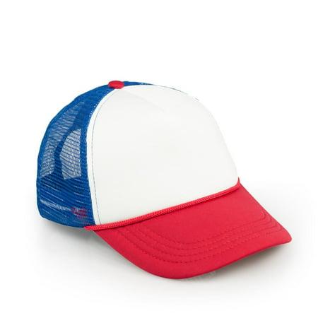 Stranger Things Mesh Red White & Blue Vintage Mesh Trucker Cap