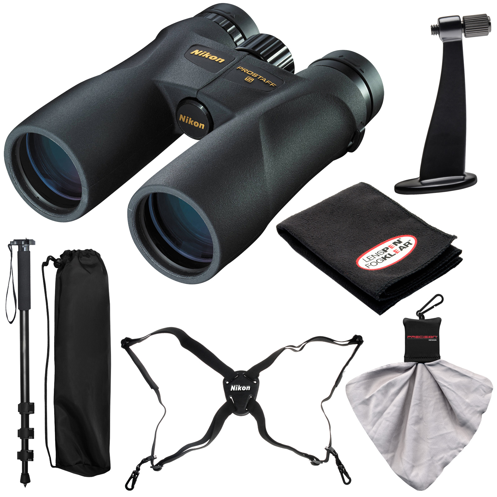 Nikon Prostaff 5 8x42 ATB Waterproof / Fogproof Binoculars with Case   Harness   Smartphone Adapter   Cleaning Kit