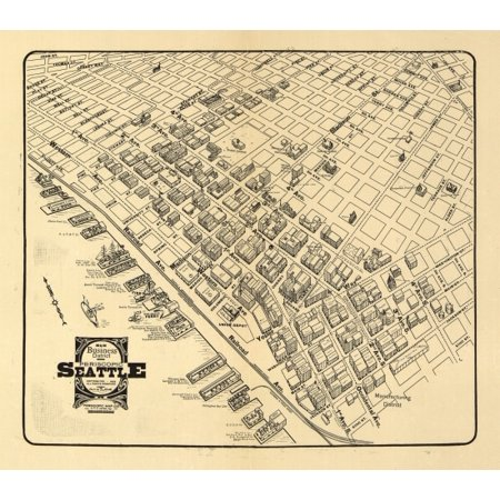 Historic Map of Seattle Washington 1903 King County Poster Print
