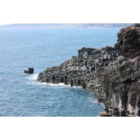 - Canvas Print Jusangjeolli Lava Rock Jeju Island Sea Seogwipo Stretched Canvas 10 x 14
