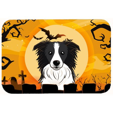 Caroline's Treasures Halloween Border Collie Kitchen/Bath Mat - Halloween Document Borders