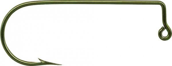 100 Pack Mustad Aberdeen Jig Hook 90 Degree Brass 32760-BR Size 1//0