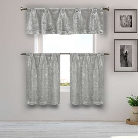 Mercer41 Kenner 3 Piece Kitchen Curtain Set