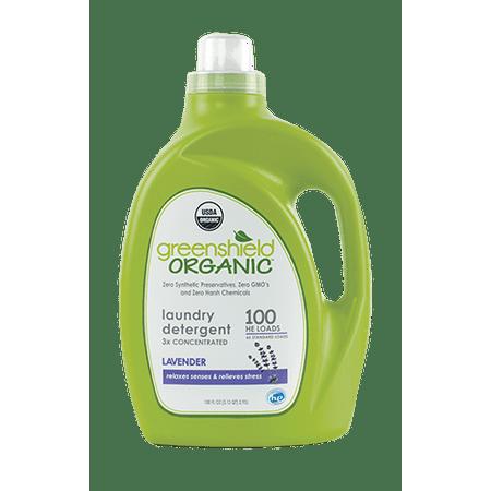 Greenshield Organic Laundry Detergent Lavender 100 Oz