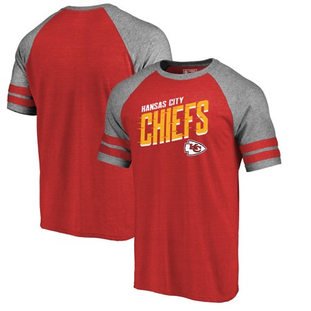 - Kansas City Chiefs NFL Pro Line by Fanatics Branded Slant Strike Tri-Blend Raglan T-Shirt - Red