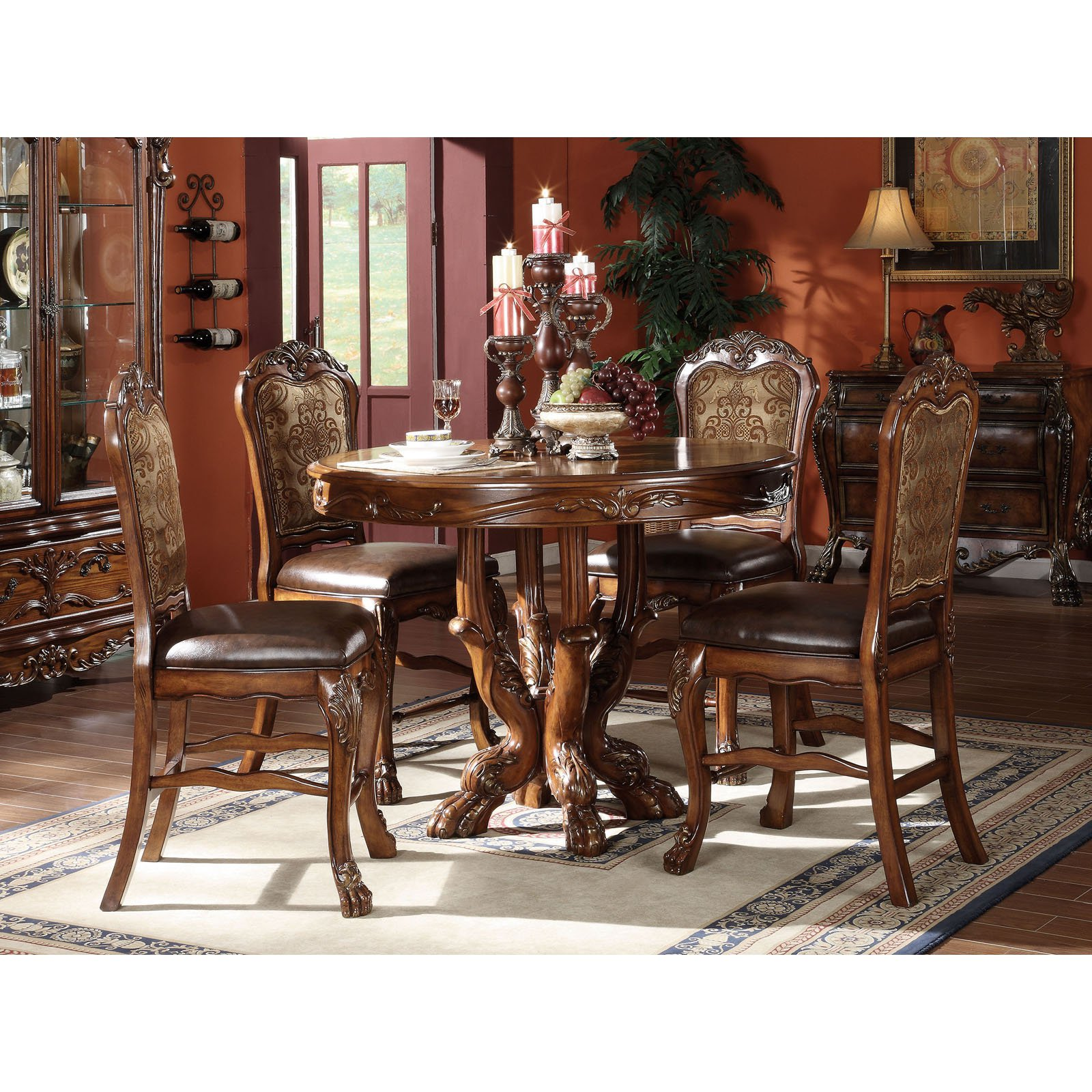 Acme Furniture Dresden Counter Height Chair - Set of 2