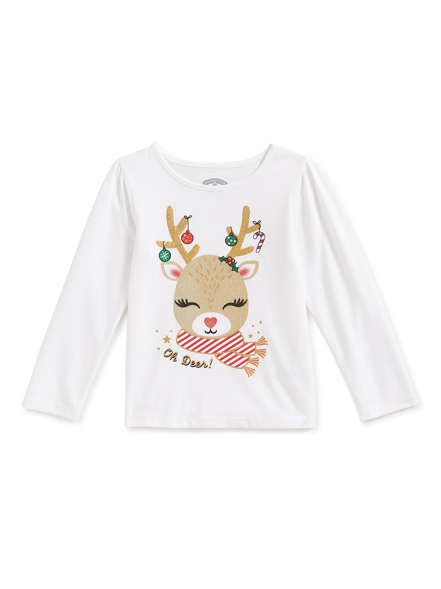 Bagilaanoe Toddler Baby Girl Thanksgiving//Christmas Clothes Trees Deer Letter Print Ruffle Long Sleeve Tops T-Shirts 6M-5T