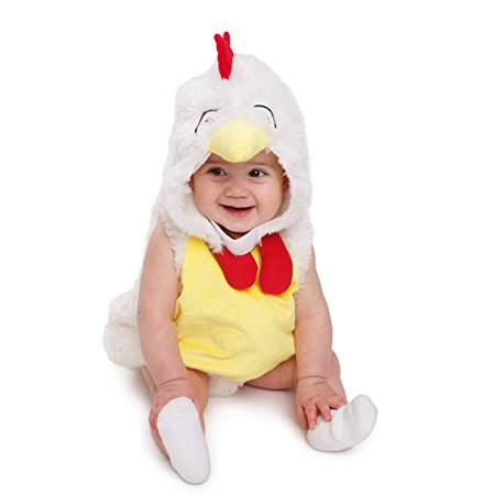 Chicken Costume Toddler (Dress Up America Baby Plush Rooster Chicken Kids loveable)
