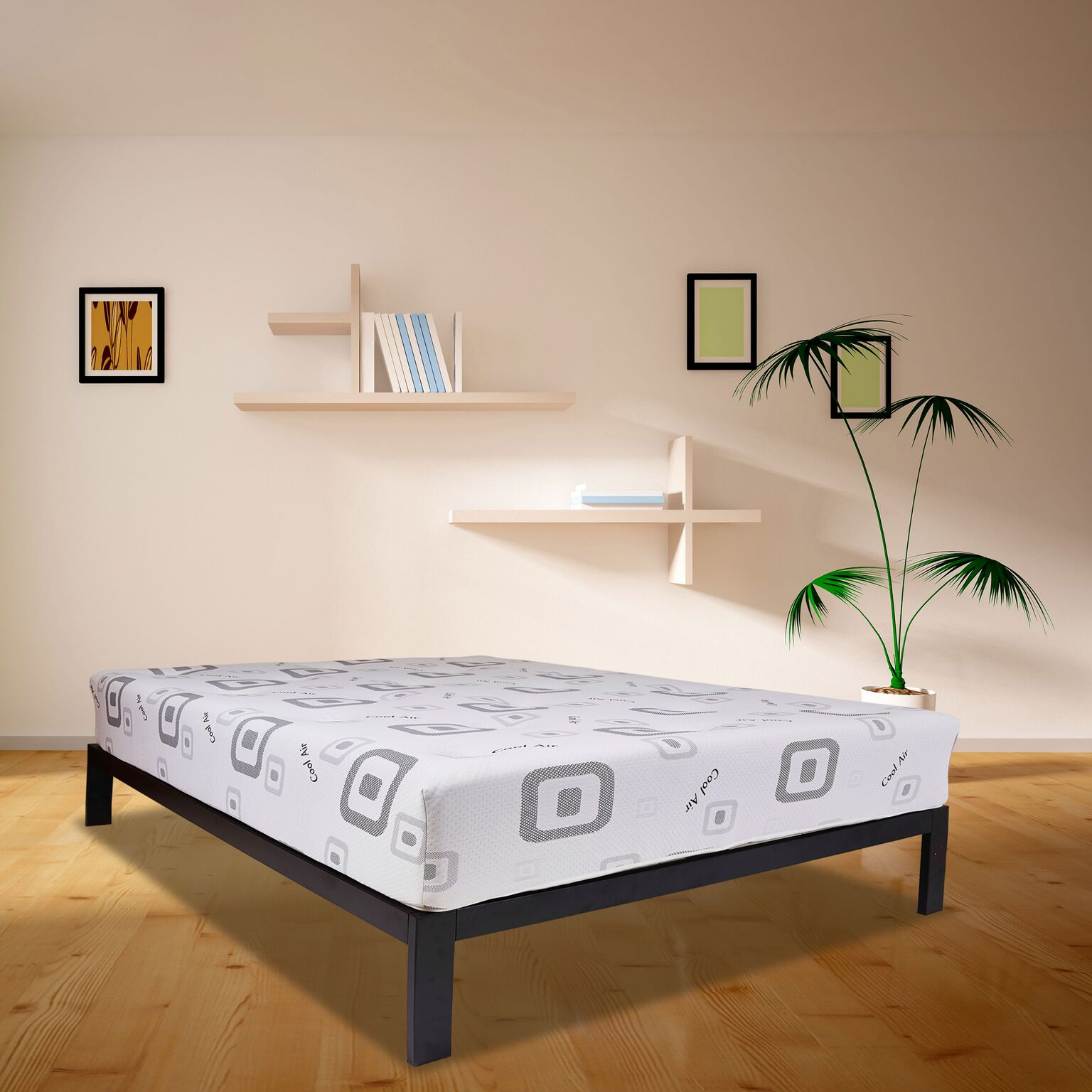 Composure Wrapped Coil and Energex Visco Hybrid Mattress and Platform Set