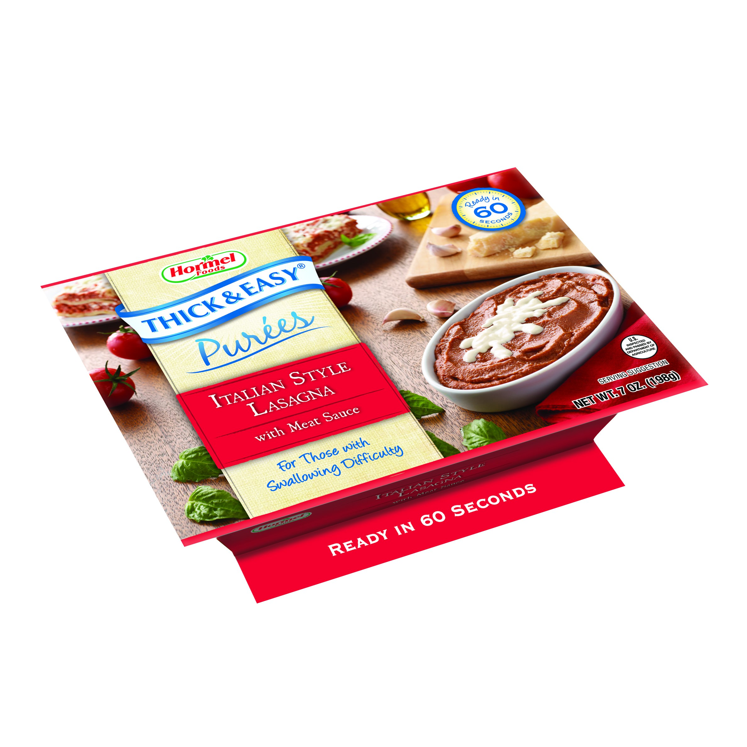 THICK & EASY® Puree Italian Style Lasagna with Meat Sauce 7oz Bowls - 1/Case of 7