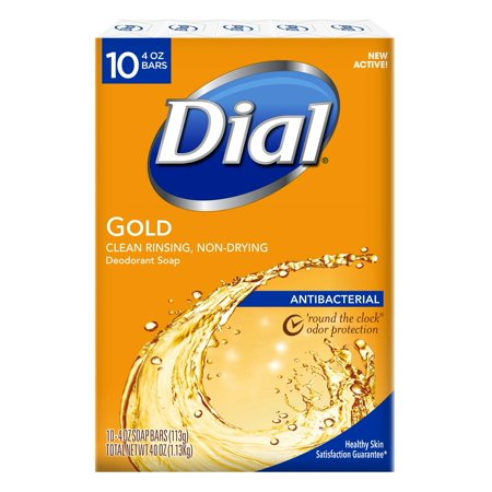 10 Station Speed Dial - Dial Antibacterial Deodorant Bar Soap, Gold, 4-Ounce Bars, 10 Count (Pack of 3) 30 Count