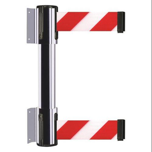 TENSATOR 896T2-1P-MAX-D3X-C Belt Barrier, Red w/White Stripe, 2 Belts