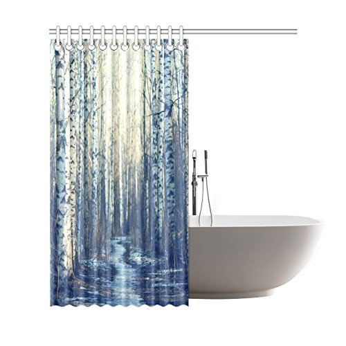 gckg home bathroom winter white fabric birch tree decor