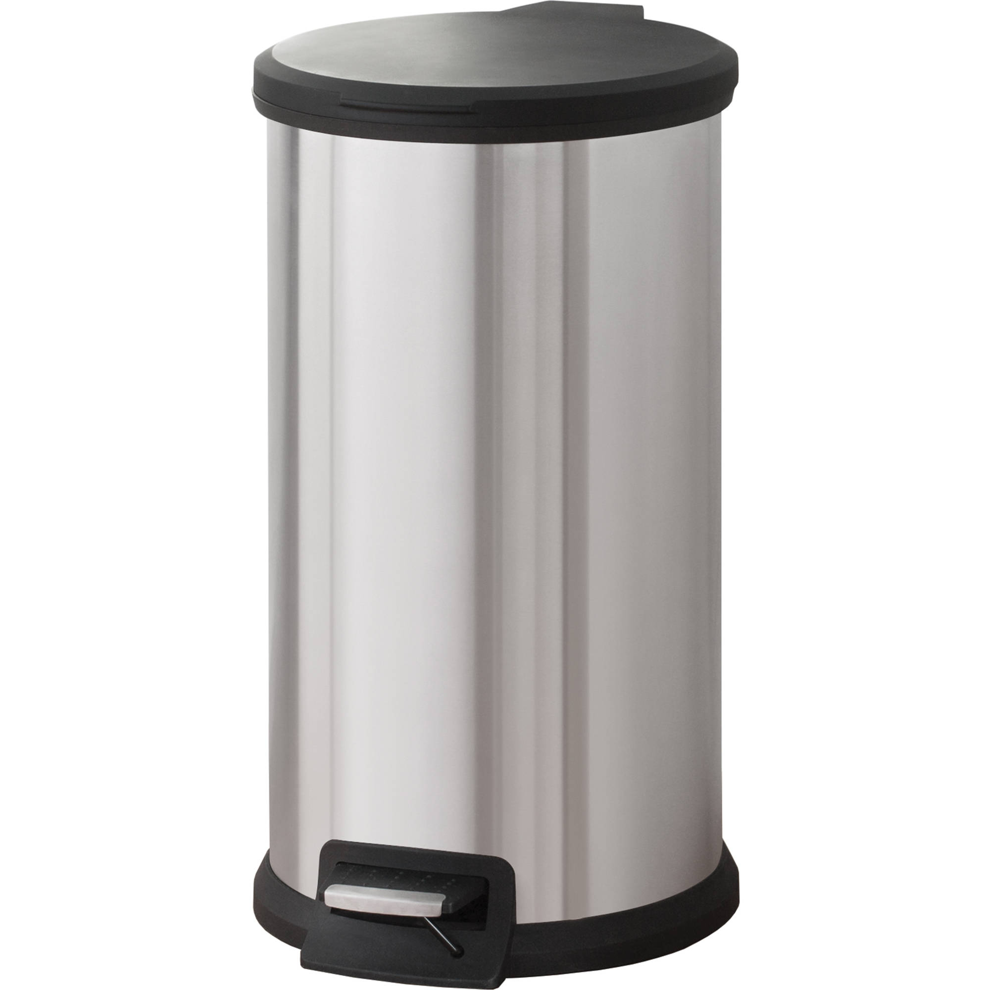 Mainstays 7.9 Gallon Round Stainless Steel Waste Can ...