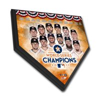 "Houston Astros 2017 World Series Champions 11.5"" x 11.5"" Home Plate Plaque - No Size"