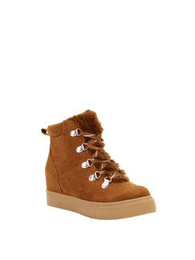 Scoop Lindsay Shearling Lined Wedge Sneaker Women's