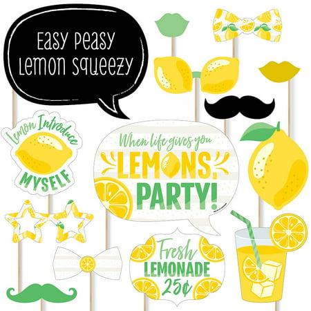 Lemonade Stand Supplies (So Fresh - Lemon - Citrus Lemonade Party Photo Booth Props Kit - 20)