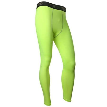 a95ee038a30ec Men Compression Base Layer Sports Long Tight Pants Running Workout Leggings  - Walmart.com