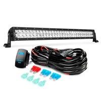 Nilight LED Light Bar 32 Inch 180W Spot Flood Combo Led Off Road Lights 12V 5Pin Rocker Switch LED Light Bar Wiring Harness Kit , 2 Years Warranty