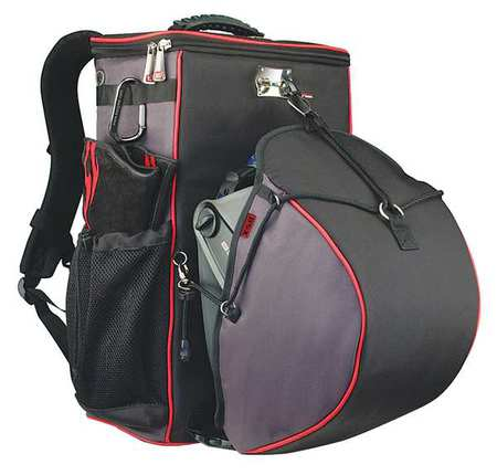 Bsx Tool Backpack, High Denier Fabric with Metal Hardware, Black, GB100