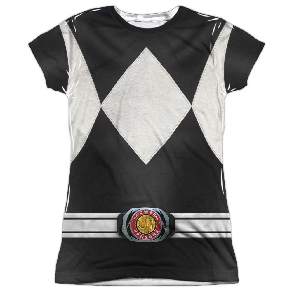 Mighty Morphin Power Rangers Red Ranger Juniors Sublimation Shirt