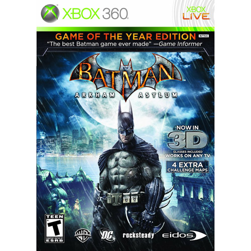Batman Arkham Asylum Goty (Xbox 360) - Pre-Owned
