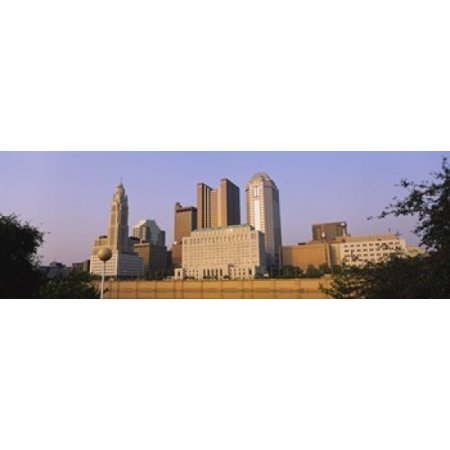 Low angle view of buildings in a city Scioto River Columbus Ohio USA Poster Print - Halloween Usa Columbus Ohio