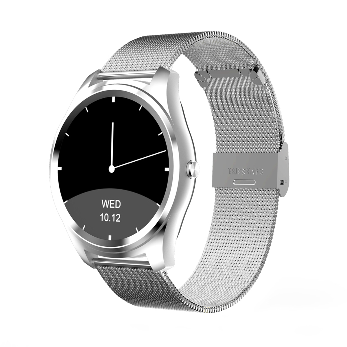 Diggro DI03 Milanese Metal Bluetooth Siri Smart Watch MTK2502C 128MB+64MB 1.15cm Ultra-thin IP67 Heart Rate/Sleep Monitor Pedometer for Android & IOS