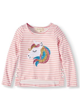 Btween Sequin Unicorn Graphic T-Shirt (Little Girls)