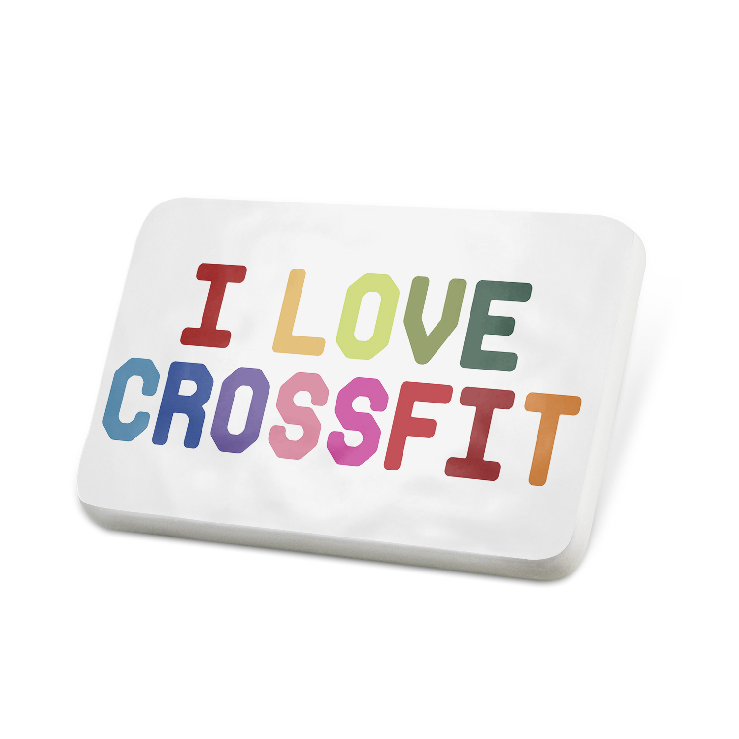 Porcelein Pin I Love Crossfit,Colorful Lapel Badge – NEONBLOND