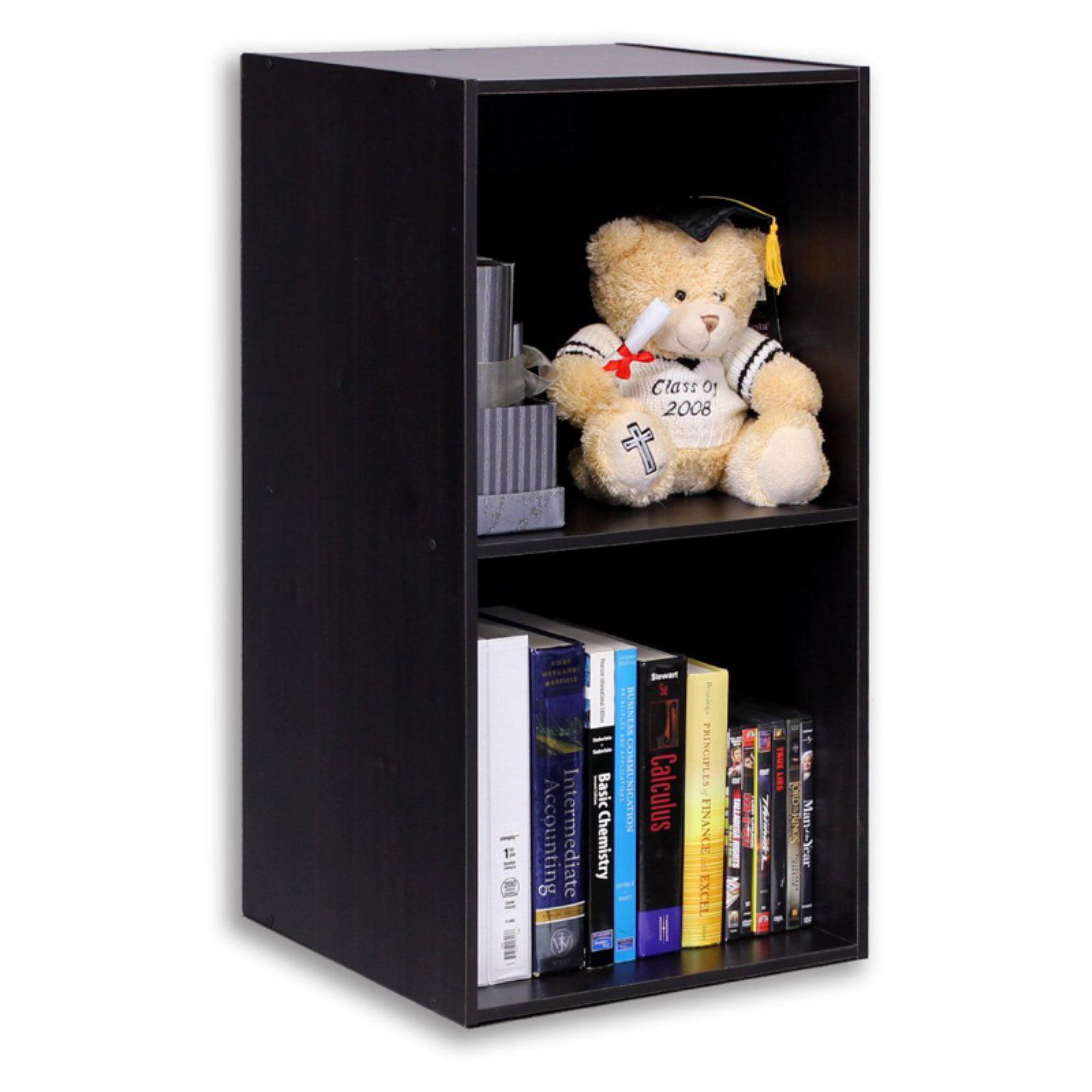 Furinno 11013EX Hidup Tropika Eco Modular Open Cube Tall Storage with Shelf, Espresso
