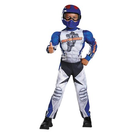 Halloween Motorcycle (Morris Costumes DG90768M Motorcycle Rider Toddler Muscle Costume, 3-4)