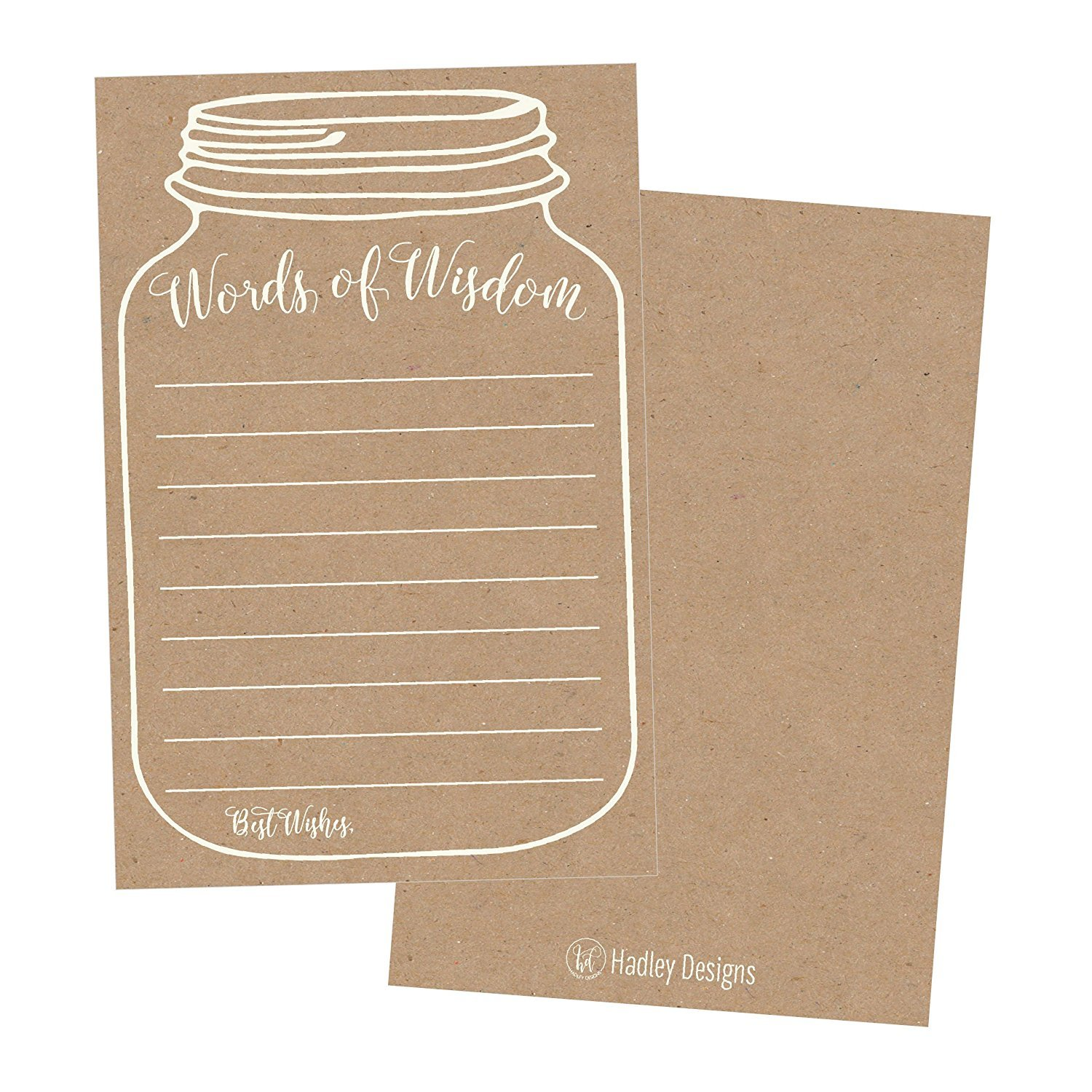 Advice Cards for the Bride and Groom Advice cards Mason Jar Advice Cards Mason Jar Wedding Advice and Well Wishes cards