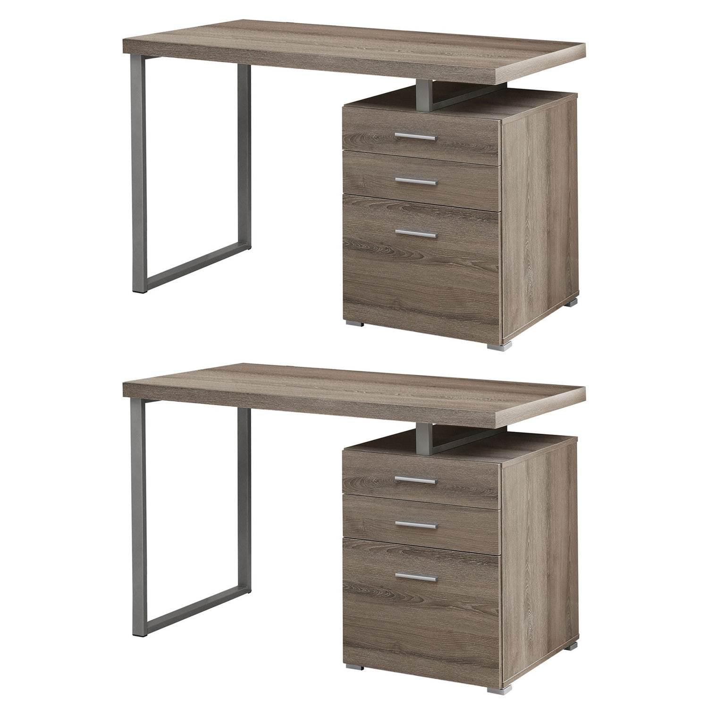 Monarch Specialties Left/Right Facing Contemporary Office Desk