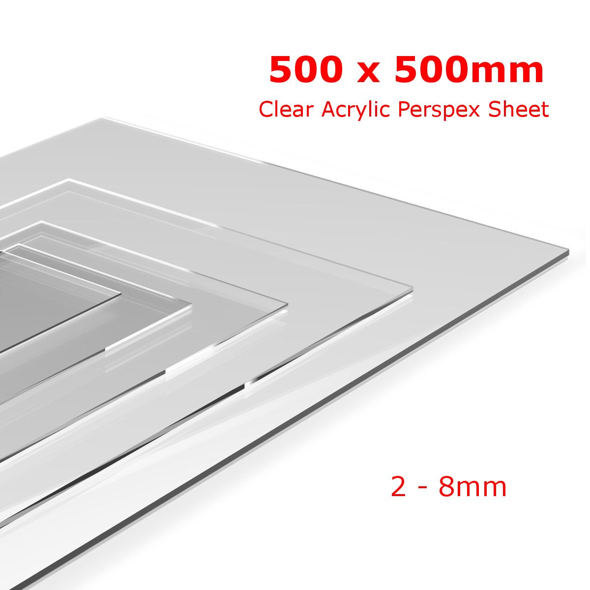 Clear Perspex Sheet  Cut To Size Panels Plastic Panel