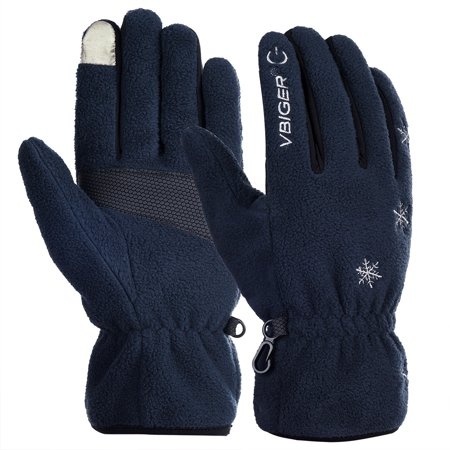 Unisex Winter Warm Gloves Full-finger Snowboard Gloves Waterproof Sports Gloves for Skiing Sledding Cycling Snowboarding Snowmobile and