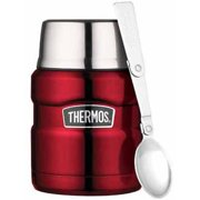 Thermos Stainless King Food Jar, 16 oz, Cranberry