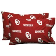 NCAA Oklahoma Sooners Pillowcases Two-Pack Red Set