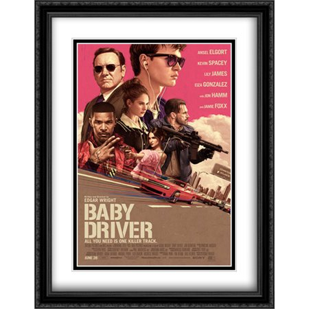 Baby Driver 28X36 Double Matted Large Large Black Ornate Framed Movie Poster Art Print